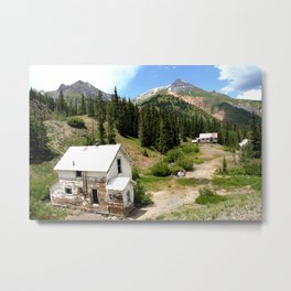 Remnants of the Gold Rush at the Idarado Mine Metal Print
