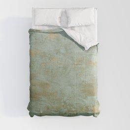 Metallic Effects Oxidized Copper Verdigris Industrial Rustic Comforters