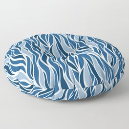 Go with the Flow in Classic Blue Floor Pillow
