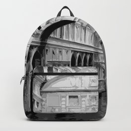 The Bridge of Sighs in Venice Italy Travel Backpack