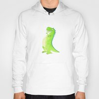 t rex Hoodies featuring T-rex by Alison Sadler's Illustrations