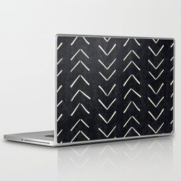 Mudcloth Big Arrows in Black and White Laptop & iPad Skin