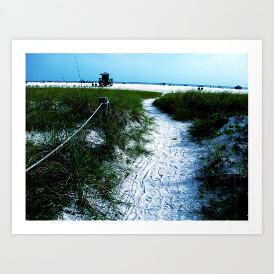 Trail Out To The Coast Art Print