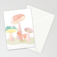 Mushrooms trees Stationery Cards