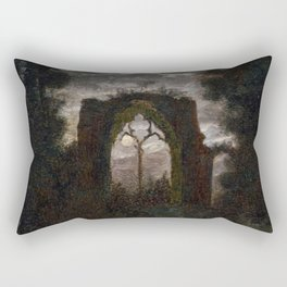 Carl Gustav Carus - The Ruins of Netley Abbey in the Moonlight Rectangular Pillow