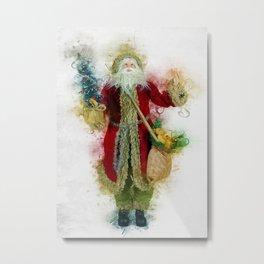 Vintage Father Christmas Metal Print