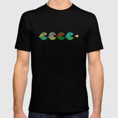 Pac-Turtles Black Mens Fitted Tee LARGE