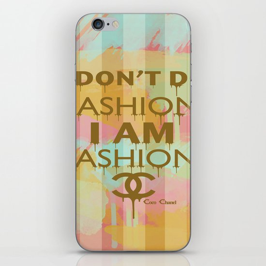 Fashion Typography iPhone & iPod Skin