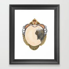 Quilted Forest // Samuel the Porcupine Framed Art Print