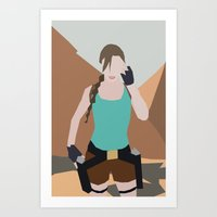 lara croft Art Prints featuring Classic Lara Croft by BatSpats