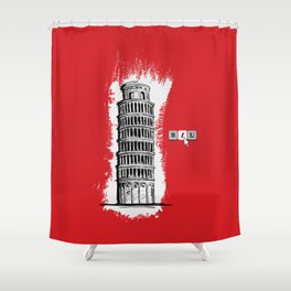 Italic Shower Curtain