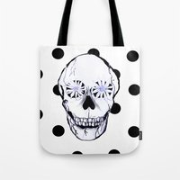 pushing daisies Tote Bags featuring Pushing Daisies by nessieness