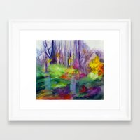 vermont Framed Art Prints featuring VERMONT by Shayna Carolyn