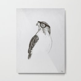 Hawk with Poor Eyesight Metal Print