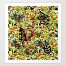 Salad Floral Art Print