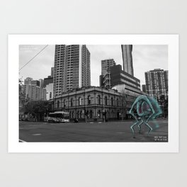 Unseen Monsters of Melbourne - Chuck Kelly Art Print