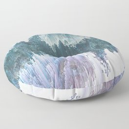 Glitched Landscapes Collection #5 Floor Pillow