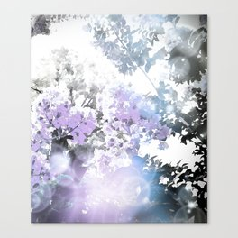 Watercolor Floral Lavender Teal Gray Canvas Print