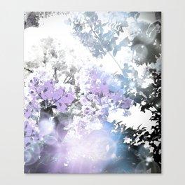 Watercolor Floral Lavender Teal Gray Canvas Print