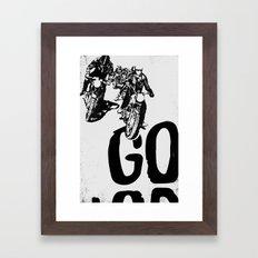 The Horde Motorcycle Art Print Framed Art Print