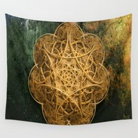 celtic Wall Tapestries featuring Celtic Gold by Lynn Bolt