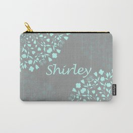 Flower Mandala in Turquoise and Gray Carry-All Pouch