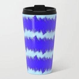 Two Tone Blue Wave Travel Mug
