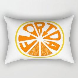 Florida Orange Rectangular Pillow