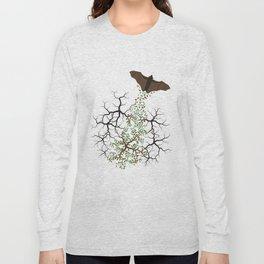 fruit bat paints forest Long Sleeve T-shirt