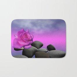 just a purple rose Bath Mat