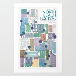 North Beach Festival Poster Art Print