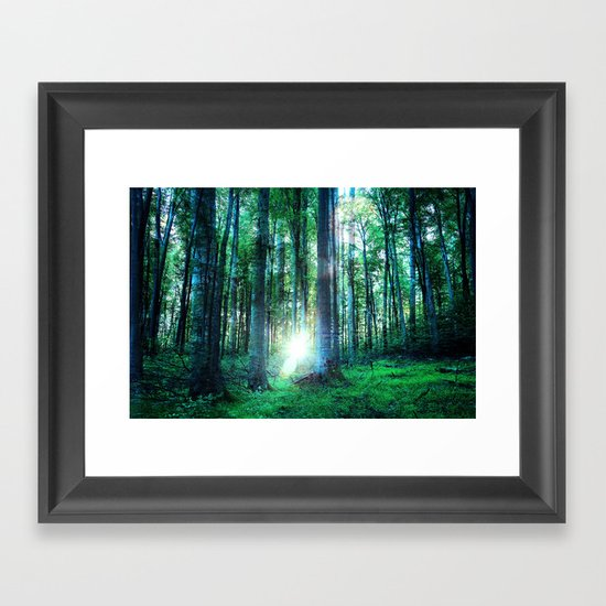 Range The Woods Framed Art Print