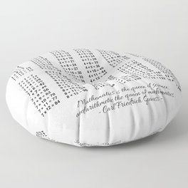 Multiplication Table. Arithmetic For All Floor Pillow