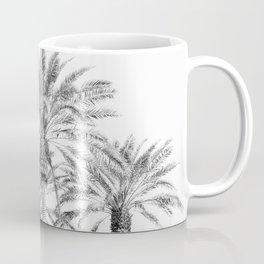 California Palm Trees, Black & White Coffee Mug