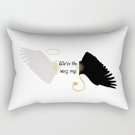 We're On Our Side - Good Omens Fanart Rectangular Pillow