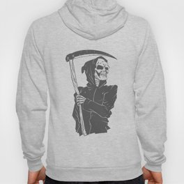 Grim reaper black and white Hoody