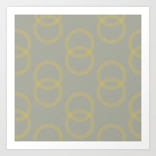 Simply Infinity Link Mod Yellow on Retro Gray Art Print