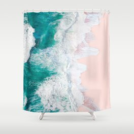 Pink Sand Beach Shower Curtain