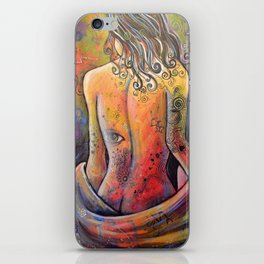 Abstract Art Original Nude Woman Girl Painting ... The Company You Keep iPhone Skin