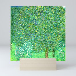 Gustav Klimt - Rose Bushes under Trees - Rosensträucher unter Bäumen - Vienna Secession Painting Mini Art Print