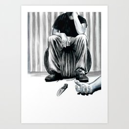 One Imbecile Less Art Print