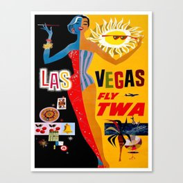 Vintage poster - Las Vegas Canvas Print