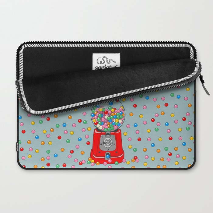 Unicorn Gumball Poop Laptop Sleeve