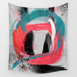 blue meets pink on a cloudy day Wall Tapestry