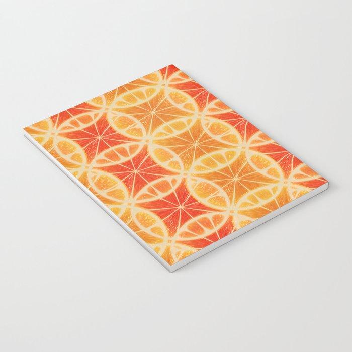 Orange Slice Pattern Notebook