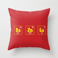 bazinga Throw Pillows featuring BAZINGA- tbbt by :: Fan art ::
