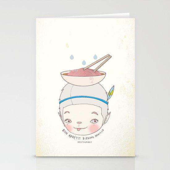 맛! Bon appetit bizarre nouille restaurant ! Stationery Cards