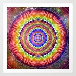 Cosmic Journey Mandala Art Print