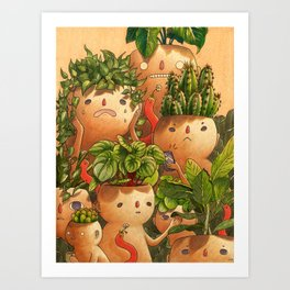 Plant-minded Art Print