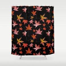 Dead Leaves over Black Shower Curtain